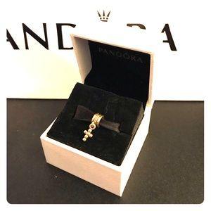 Pandora 14k gold cross dangle